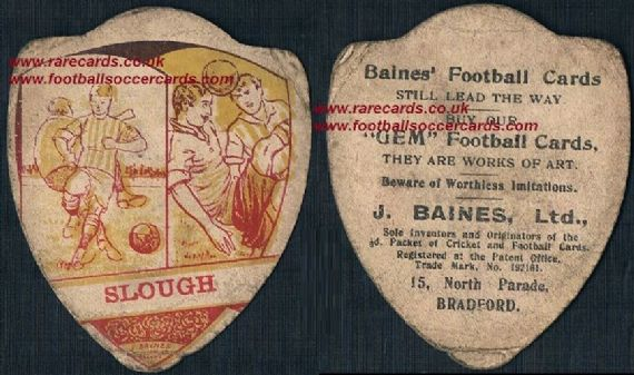 1910 Slough FC card by Baines